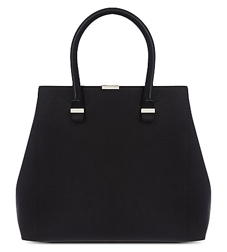 VICTORIA BECKHAM Liberty leather tote (Black