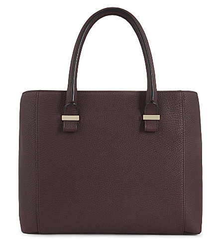 VICTORIA BECKHAM Liberty leather tote (Burgundy