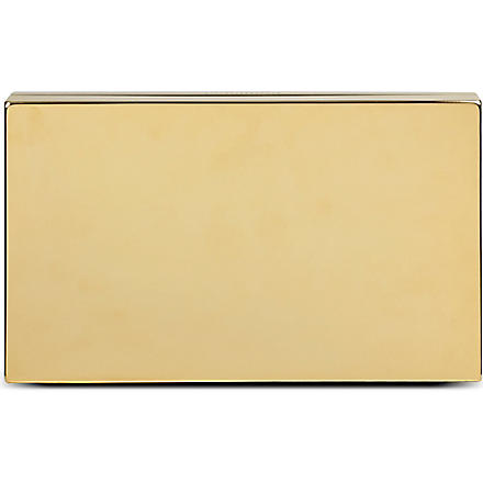 VICTORIA BECKHAM Metal clutch (Gold