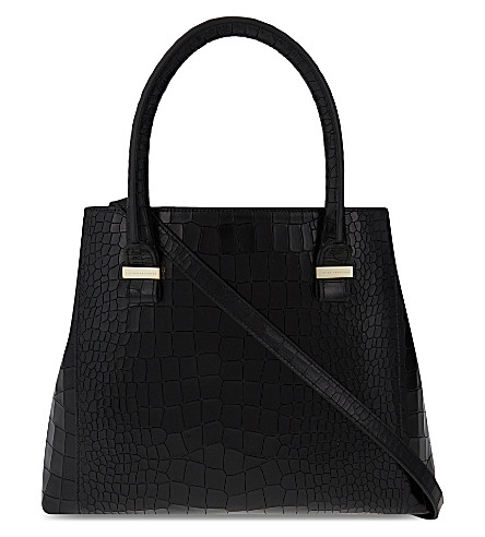 VICTORIA BECKHAM Quincy buffalo leather tote (Black