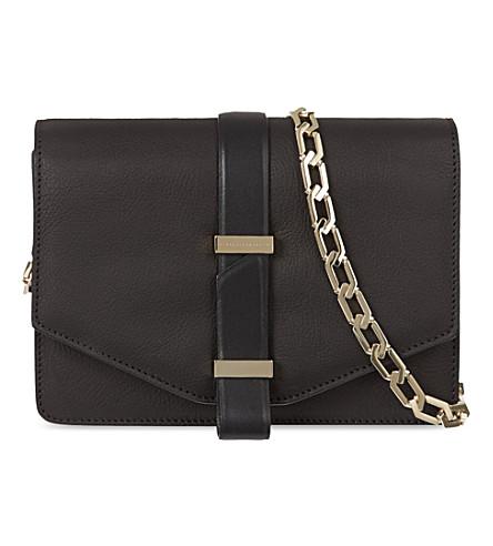 VICTORIA BECKHAM Mini leather satchel with chain (Black