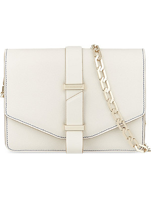VICTORIA BECKHAM Mini leather satchel with chain