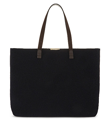 VICTORIA BECKHAM Simple leather shopper (Dark+night