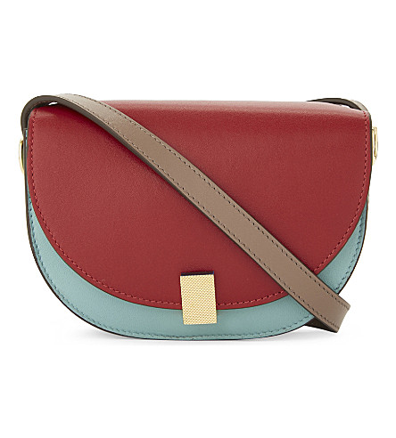 VICTORIA BECKHAM Half Moon Box nano leather cross-body bag (Colourblock