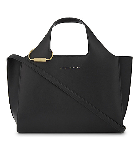 VICTORIA BECKHAM Leather newspaper bag (Black