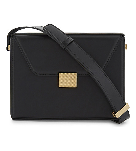 VICTORIA BECKHAM Vanity leather cross-body bag (Black