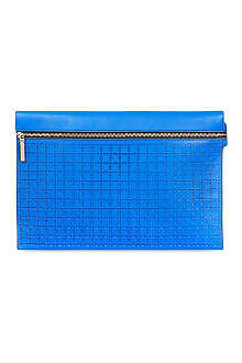 VICTORIA BECKHAM Large perforated zip pouch