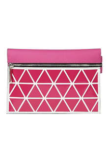 VICTORIA BECKHAM Small triangle zip pouch