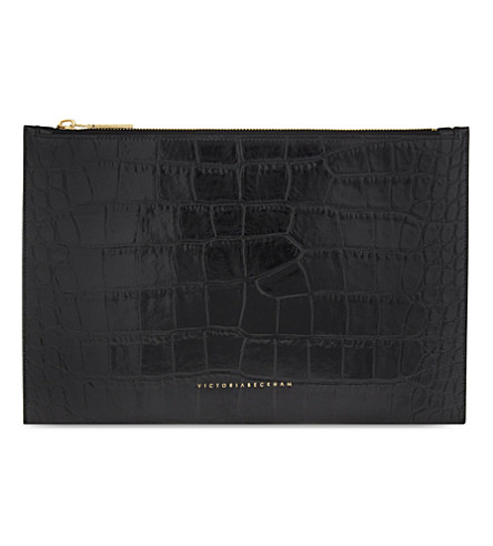 VICTORIA BECKHAM Small leather pouch (Black