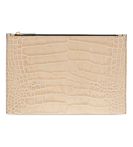 VICTORIA BECKHAM Small leather pouch (Dark+nude