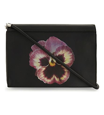 CHRISTOPHER KANE Lenticular flower leather cross-body bag (Black