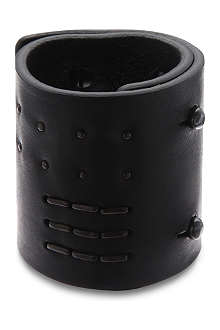 RICK OWENS Staple detail leather cuff