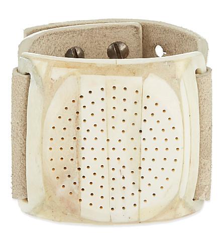 RICK OWENS Bone dieter disk bracelet (Bone