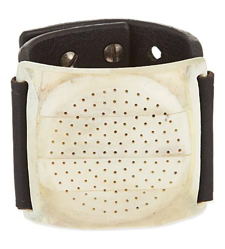 RICK OWENS Bone dieter disk bracelet (Black