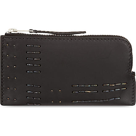RICK OWENS Metal detail wallet (Black