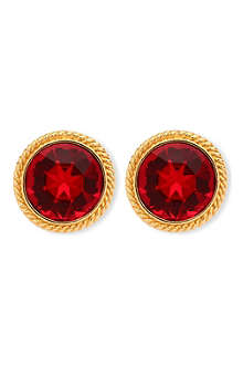 SUSAN CAPLAN VINTAGE Napier red earrings