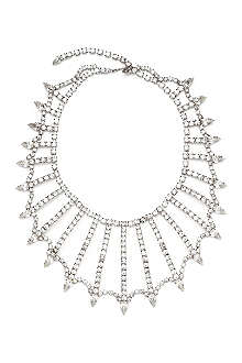 SUSAN CAPLAN VINTAGE Crystal-embellished spider necklace