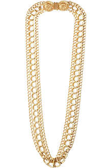 SUSAN CAPLAN VINTAGE Céline triple chain necklace