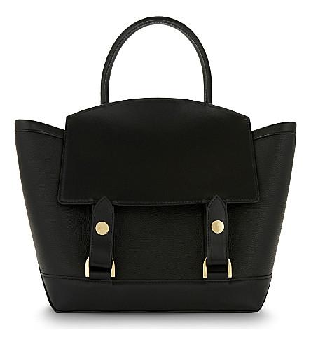 SACAI Hybrid leather tote (Black