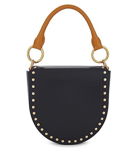 SACAI Horseshoe leather tasselled bag (Navy