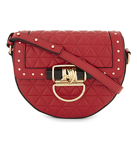 BALMAIN Quilted leather mini cross-body bag (Rouge
