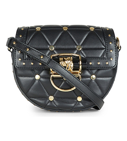 BALMAIN Quilted leather mini cross-body bag (Noir