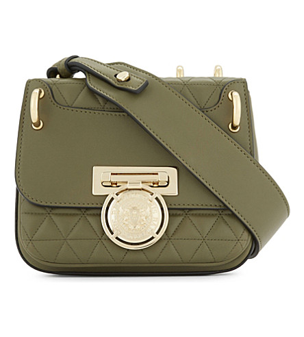 BALMAIN Renaissance quilted leather cross-body bag (Khaki
