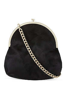 SIMONE ROCHA Small pony-skin chain shoulder bag