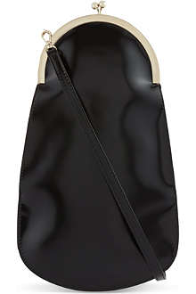 SIMONE ROCHA Long patent leather clutch