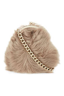 SIMONE ROCHA Small sheepskin chain shoulder bag