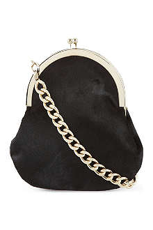 SIMONE ROCHA Pony-skin chain bag