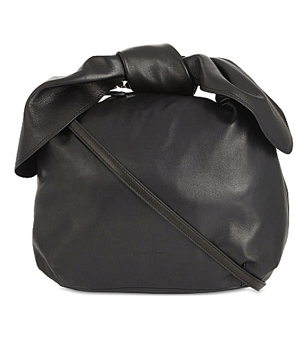SIMONE ROCHA Knotted small leather hobo bag (Black