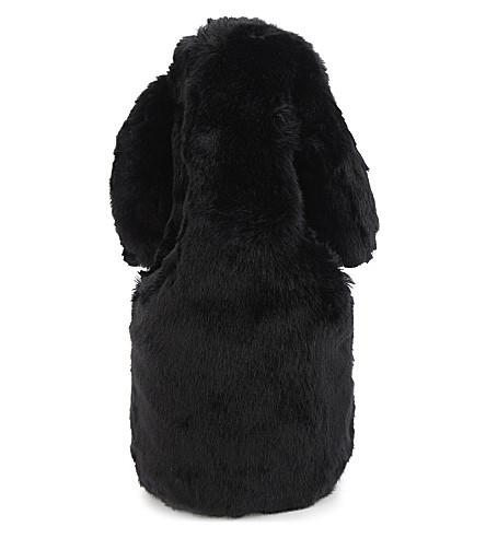 SIMONE ROCHA Faux-fur shoulder bag (Black