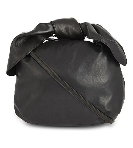 SIMONE ROCHA Double bow nappa leather (Black