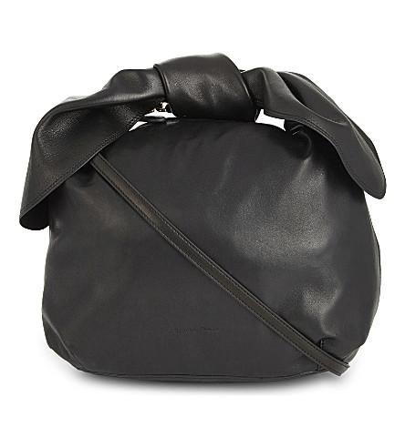 SIMONE ROCHA Double bow nappa leather (Black