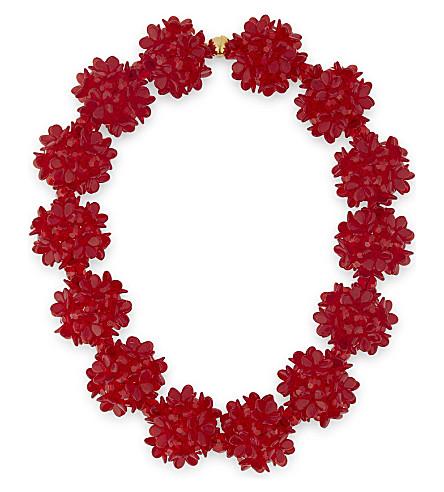 SIMONE ROCHA Crystal choker (Red