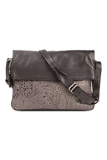 A.F.VANDEVORST Emossed leather foldover shoulder bag