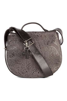 A.F.VANDEVORST Embossed leather saddle bag