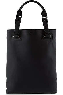 A.F.VANDEVORST Cross-embossed leather shopper bag