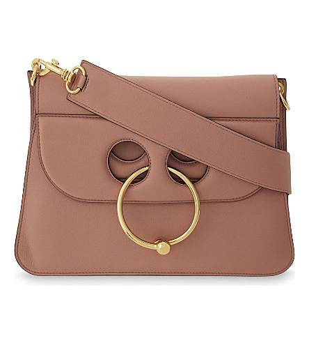 JW ANDERSON Pierce leather shoulder bag (Dusty+rose
