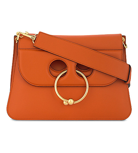 JW ANDERSON Pierce medium leather shoulder bag (Tangerine