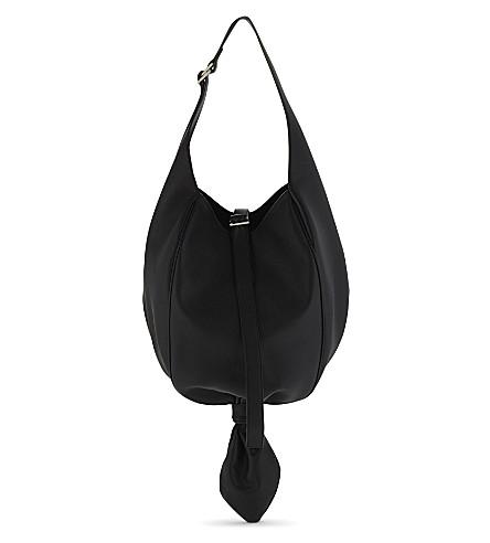 JW ANDERSON Knot leather shoulder bag (Black