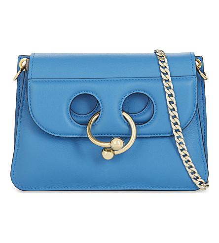 JW ANDERSON Pierce mini leather cross-body bag (Cerulean+blue