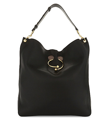 JW ANDERSON Pierce large leather hobo (Black