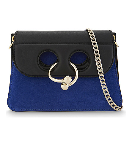 JW ANDERSON Pierce mini leather bag cross-body bag (Royal+blue