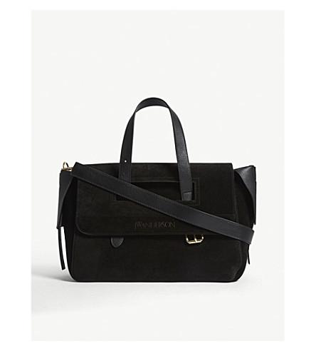 JW ANDERSON Tool suede bag (Black