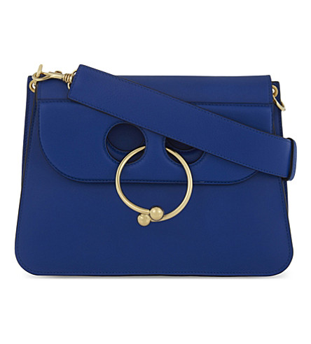 JW ANDERSON Pierce medium leather shoulder bag (Cobalt+blue