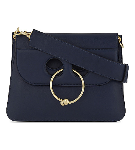 JW ANDERSON Pierce medium leather shoulder bag (Navy
