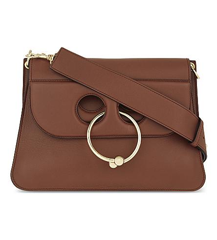 JW ANDERSON Pierce medium leather shoulder bag (Tan