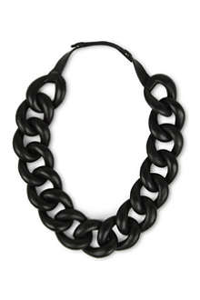 NATALIA BRILLI Leather chain choker necklace